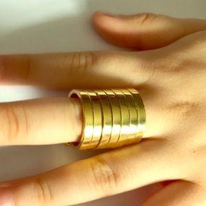 Jewelry - Bcbg Gold collar layer ring